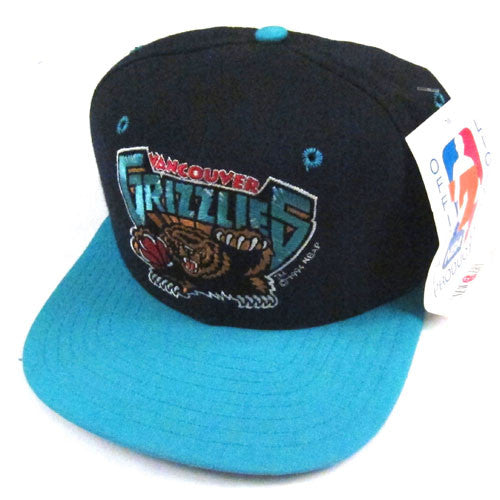 Vintage Vancouver Grizzlies New Era Snapback Hat 90s NBA Basketball ... 463271844b6