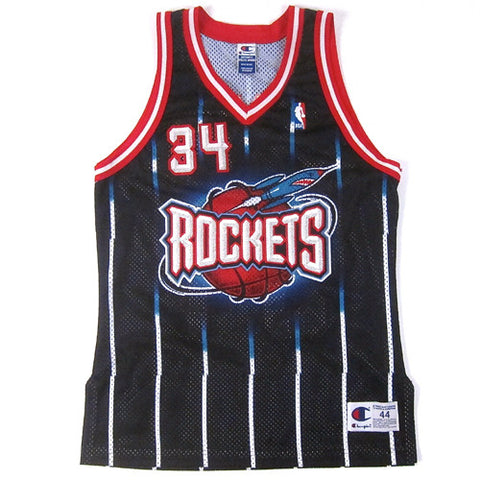 Vintage Hakeem Olajuwon Authentic Houston Rockets Champion Jersey