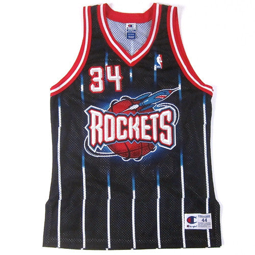 the best attitude 61c86 7640c Vintage Hakeem Olajuwon Authentic Houston Rockets Champion Jersey