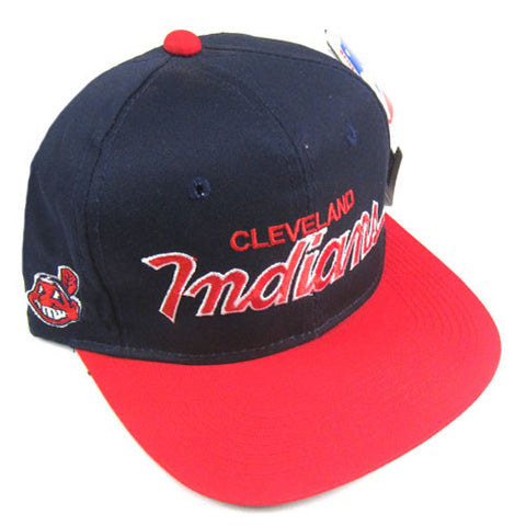 5872c9624b5 Vintage Cleveland Indians Sports Specialties Snapback Hat NWT 90s ...