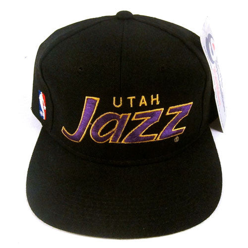 000af7f7213f8 ... cap 235de ac874  authentic vintage utah jazz sports specialties script  snapback nwt nba basketball 90s malone stockton for all