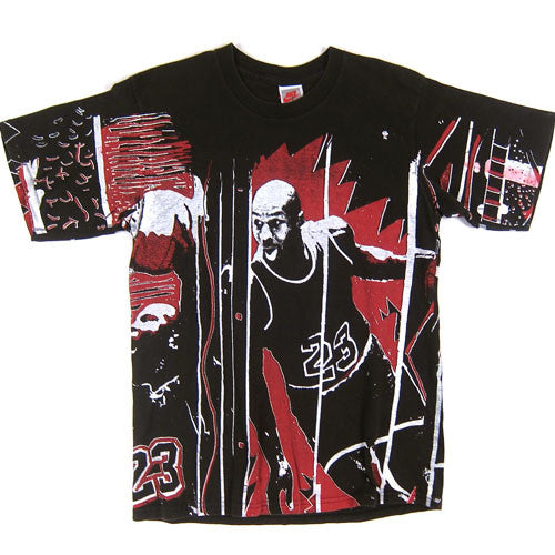 dbacc4e8eb03e0 Vintage Michael Jordan All Over Print Nike T-Shirt NBA Basketball Chicago  Bulls – For All To Envy