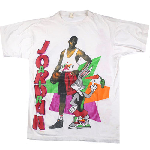 2fcde6eeee2a5b Vintage Michael Jordan Bug Bunny T-shirt Hare Chicago Bulls NBA Basketball  90s Space Jam – For All To Envy
