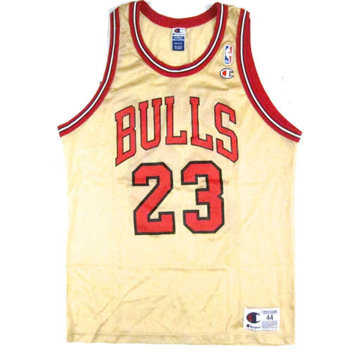 Vintage Michael Jordan Chicago Bulls Gold Champion Jersey