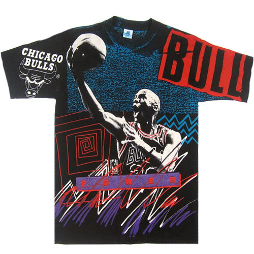 Vintage Michael Jordan Chicago Bulls All Over Print T-shirt