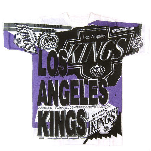 Vintage LA Kings All Over Print T-shirt NWOT