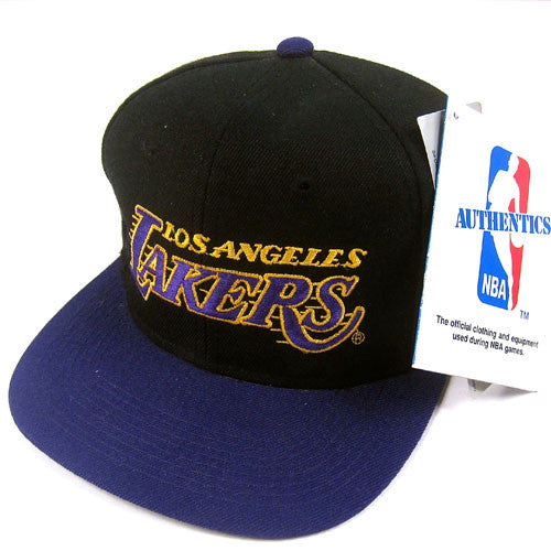 Vintage LA Lakers Sports Specialties Script Snapback NWT NBA ... c80618e37e3