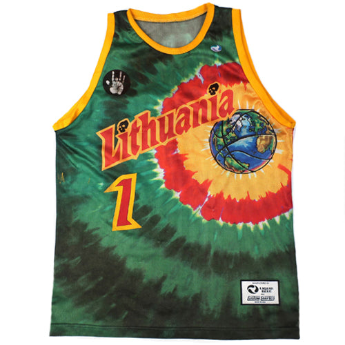 Vintage Lithuania Basketball Jerry Garcia Jersey