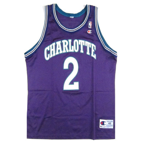 Vintage Larry Johnson Charlotte Hornets Champion Jersey