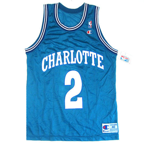 7035b0216da Vintage Larry Johnson Charlotte Hornets Champion Jersey 90s NBA basketball  – For All To Envy