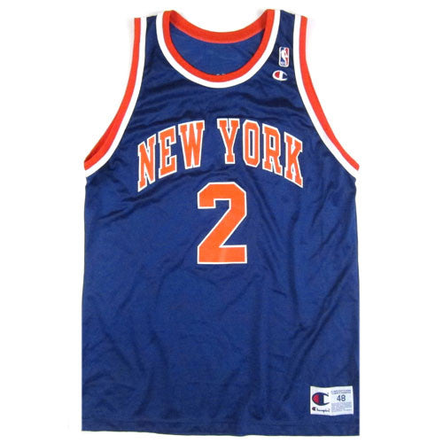 Vintage Larry Johnson New York Knicks Champion Jersey