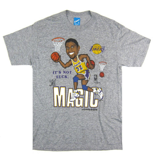 Vintage Magic Johnson LA Lakers Caricature T-shirt