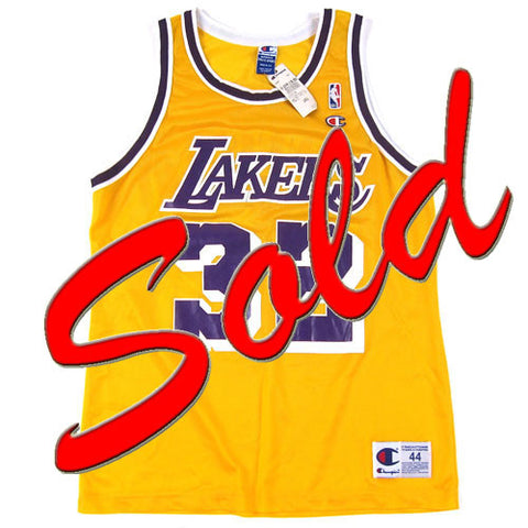 Vintage Magic Johnson LA Lakers Champion Jersey NWT