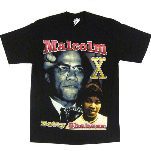 Vintage Malcolm X Betty Shabazz T-shirt