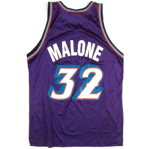 404ab16f Vintage Karl Malone Utah Jazz Champion Jersey 90s NBA Basketball – For All  To Envy