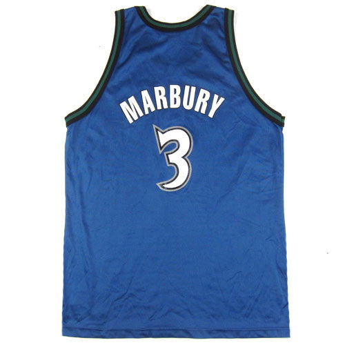 96ff4c17048 Vintage Stephon Marbury Minnesota Timberwolves Champion Jersey 90's NBA  basketball – For All To Envy