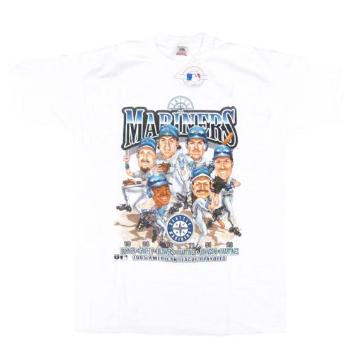 Vintage Seattle Mariners Caricature T-shirt NWT