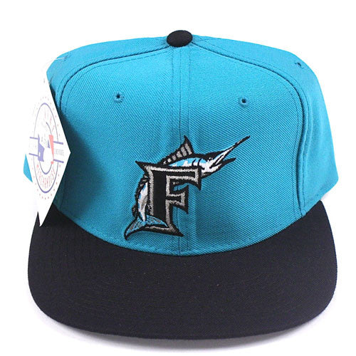 Vintage Snapback Snap Back Hat Miami Florida Marlins New Era Logo 90 s Wool  New With Tags NWT MLB Baseball – For All To Envy 6bed08102bfd