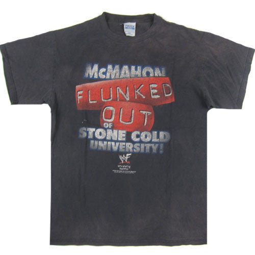 Vintage McMahon flunked out of Stone Cold University T-Shirt