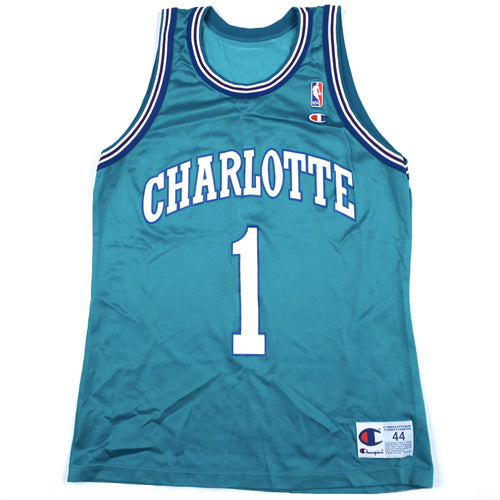Vintage Muggsy Bogues Charlotte Hornets Champion Jersey 404be22be
