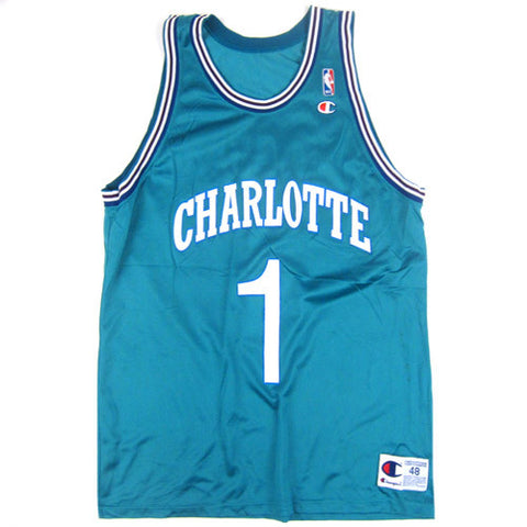 Vintage Muggsy Bogues Charlotte Hornets Champion Jersey