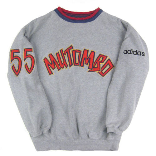 Vintage Dikembe Mutombo Adidas Sweatshirt 80s 90s NBA basketball – For All  To Envy 8137e512db