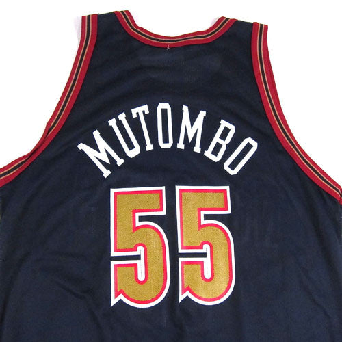 The Official Site Of The Denver Nuggets: Vintage Dikembe Mutombo Denver Nuggets Champion Jersey 90s