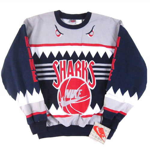 84393b5ebee4 Vintage Nike Sharks Lightweight Crewneck Sweatshirt 90s NWT – For All To  Envy
