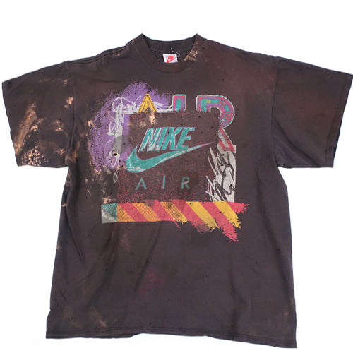 0cf9b17e5e30fc Vintage Nike Air Force Max Jordan Abstract Basketball T-Shirt 90s NBA – For  All To Envy