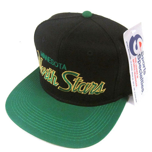 Vintage Minnesota North Stars Sports Specialties Script Snapback