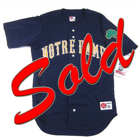 Vintage Notre Dame Rawlings jersey NWT