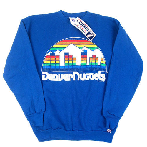 0e6e1d1e4cc Vintage Denver Nuggets 1991 Crewneck Sweatshirt NWT NBA Basketball – For  All To Envy