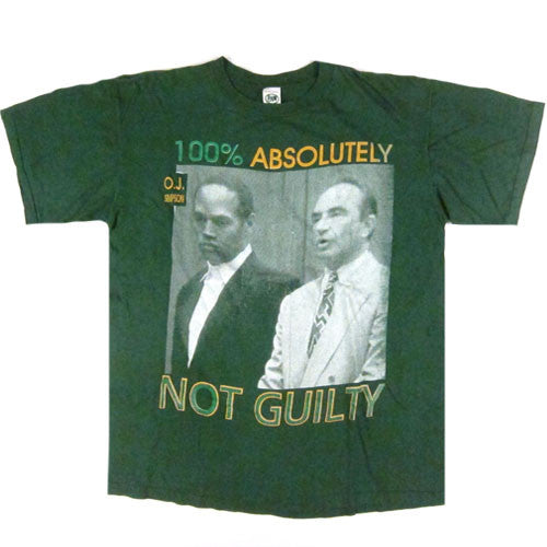 Vintage OJ Simpson Not Guilty T-shirt Robert Shapiro 90s ...