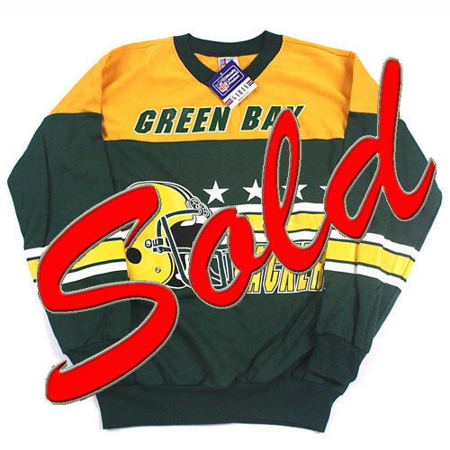 Vintage Green Bay Packers Crewneck Sweatshirt NWT
