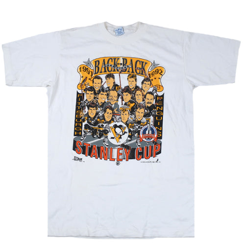Vintage Pittsburgh Penguins 91-92 Stanley Cup T-shirt