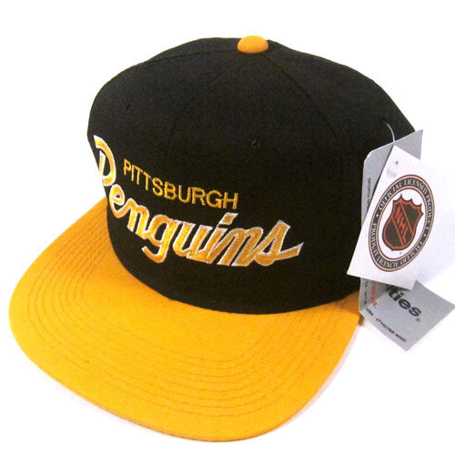 Vintage Pittsburgh Penguins Sports Specialties Script Snapback