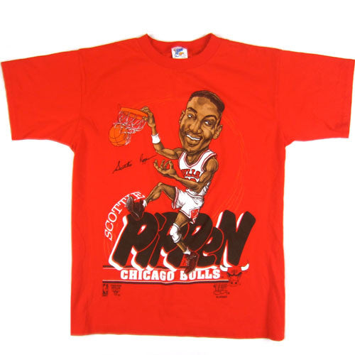 Vintage Scottie Pippen Chicago Bulls Caricature T-shirt