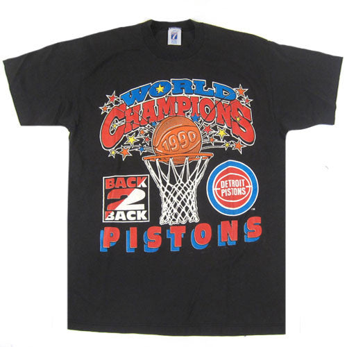 Vintage Detroit Pistons 1990 Back to Back T-Shirt