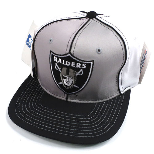 ff244cd46 Vintage Snapback Snap Back Hat Los Angeles Raiders Starter Underscore  Script 90's Wool New With Tags NWT NFL Football LA – For All To Envy