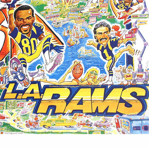 new products 01bdf 246d9 Vintage Los Angeles Rams Poster