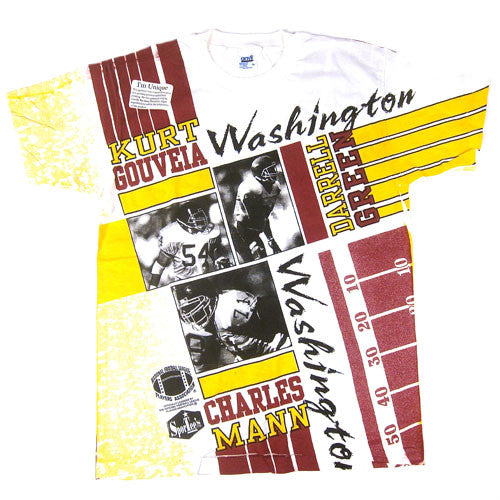 Vintage Washington Redskins Green Mann Gouveia T-shirt NWT