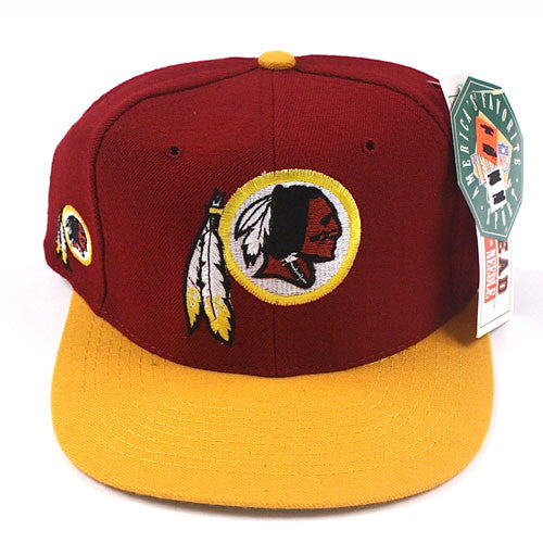 092ab7dc9ae23 Vintage Snapback Snap Back Hat Washington Redskins American Needle  Blockhead Logo 90 s Wool New With Tags NWT NFL Football RG3 – For All To  Envy