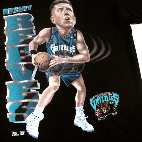Vintage Bryant Reeves Vancouver Grizzlies Caricature T-Shirt NWOT