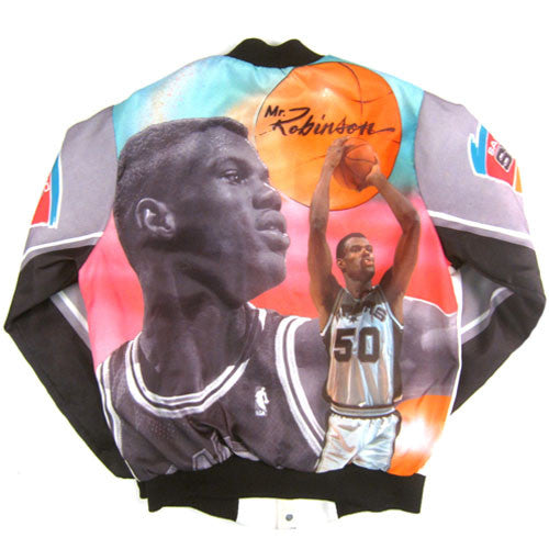 Vintage David Robinson Spurs Chalk Line Jacket
