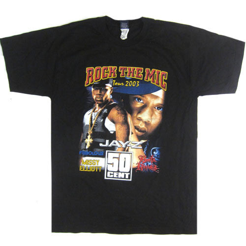 Vintage Rock The Mic Jay-Z 50 Cent T-shirt