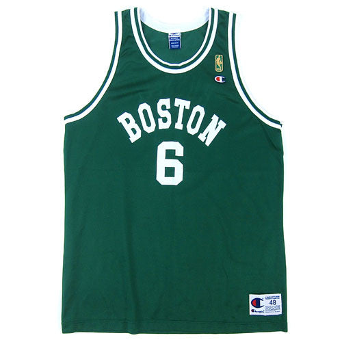 Vintage Bill Russell Boston Celtics Gold Champion Jersey