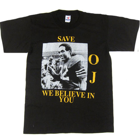 Vintage Save OJ Simpson We Believe In You T-shirt