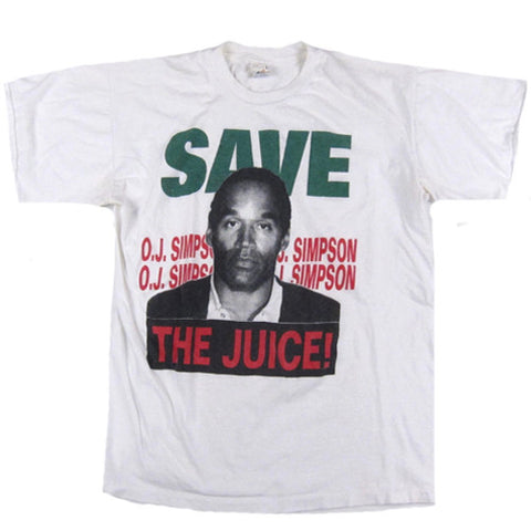 Vintage Oj Simpson Save The Juice! T-shirt