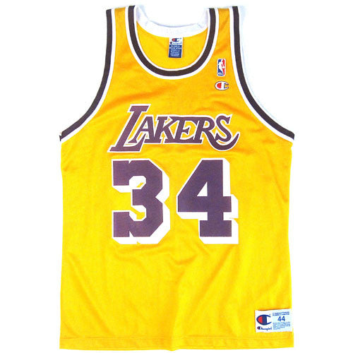new style 1a633 e3ef3 Vintage Shaquille O'neal LA Lakers Champion Jersey