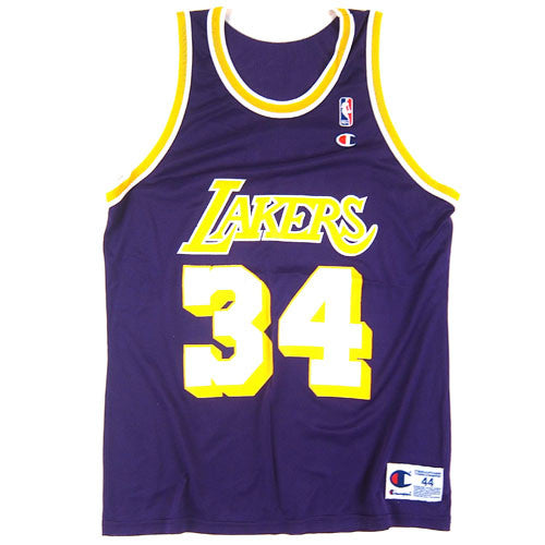 3e8219043724 Vintage Shaquille O neal LA Lakers Jersey NWT Shaq Los Angeles 90 s NBA  basketball – For All To Envy